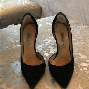 Black Suede Jimmy Choo Heels